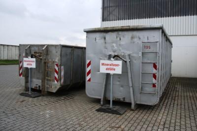 Container für Asbestzement- und Mineralfaserabfälle